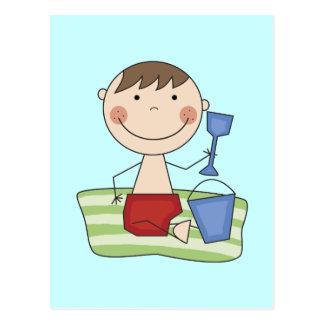 Stick Boy at Beach Tshirts and gifts Postcard