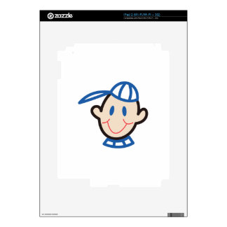 Stick Boy Face Decal For The iPad 2