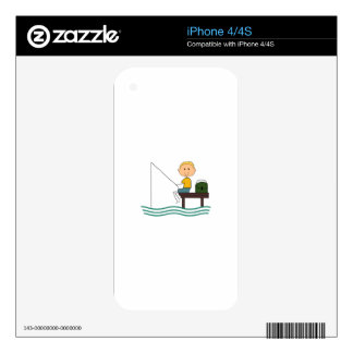 STICK BOY FISHING DECALS FOR THE iPhone 4S