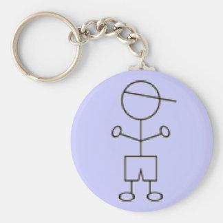 Stick Boy Keychain - Blue