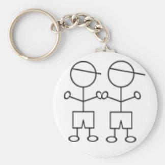 stick boy keychain twin boys