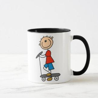 Stick Boy on Scooter Mug