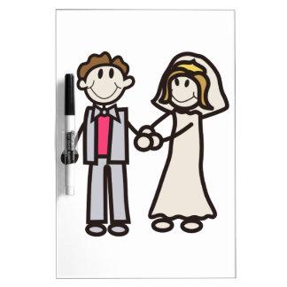 Stick Bride & Groom Dry-Erase Board