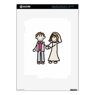 Stick Bride & Groom Skins For iPad 3