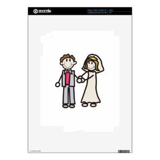 Stick Bride & Groom Skins For iPad 2