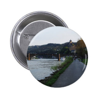 Stick button on Cochem Moselle bank in the evening