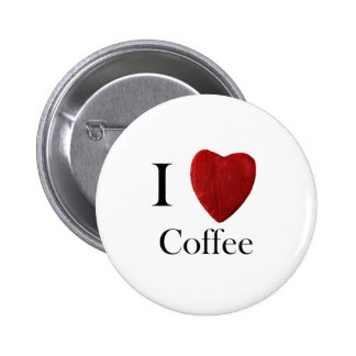 Stick button on I love Coffee