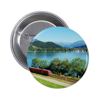 Stick button on of large Alpsee with Immenstadt