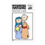 Stick Christmas Nativity Stamp