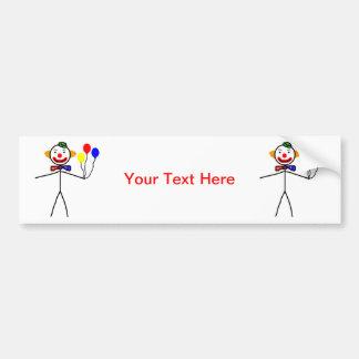 Stick Clown Bumper Sticker