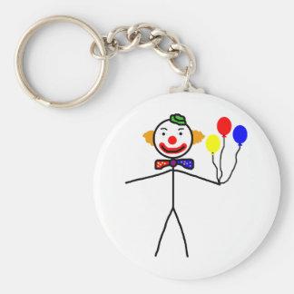 Stick Clown Keychain