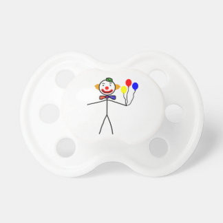 Stick Clown Baby Pacifiers