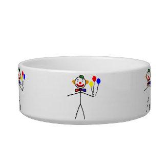 Stick Clown Cat Food Bowl