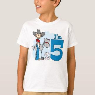 Stick Cowboy 5th Birthday T-Shirt