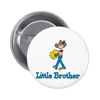 Stick Cowboy Little Brother 2 Inch Round Button