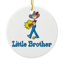 Stick Cowboy Little Brother Ceramic Ornament