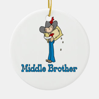 Stick Cowboy Middle Brother Ceramic Ornament