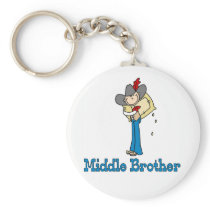 Stick Cowboy Middle Brother Keychain