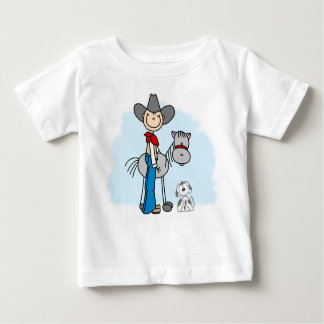Stick Cowboy N Horse Baby T-Shirt