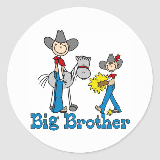 Stick Cowboys Big Brother Classic Round Sticker
