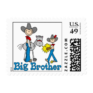 Stick Cowboys Big Brother Postage Stamps