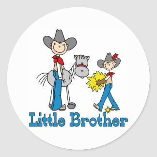 Stick Cowboys Little Brother Classic Round Sticker