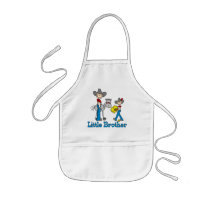 Stick Cowboys Little Brother Kids' Apron