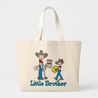 Stick Cowboys Little Brother Large Tote Bag