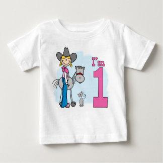 Stick Cowgirl 1st Birthday Baby T-Shirt
