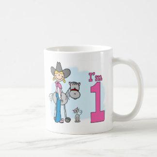 Stick Cowgirl 1st Birthday Coffee Mug