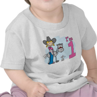 Stick Cowgirl 1st Birthday Tshirts