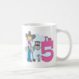 Stick Cowgirl 5th Birthday Coffee Mug