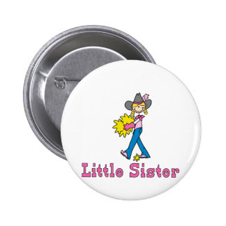 Stick Cowgirl Little Sister 2 Inch Round Button