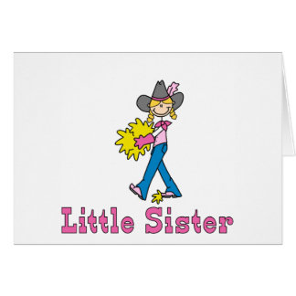 Stick Cowgirl Little Sister Card