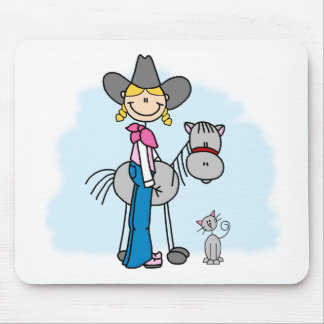Stick Cowgirl N Horse Mouse Pad