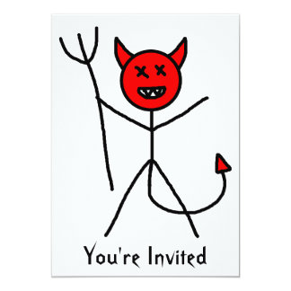 Stick Devil Card