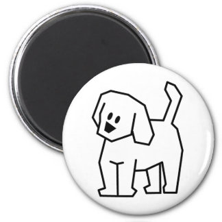 STICK DOG CARTOON CUTE HAPPY PUPPY PET DOGGIE MAGNET