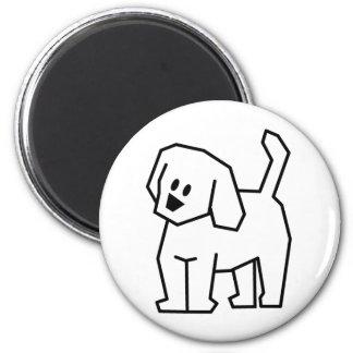 STICK DOG CARTOON CUTE HAPPY PUPPY PET DOGGIE REFRIGERATOR MAGNET