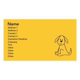 STICK DOG CUTE HAPPY CARTOON PETS ANIMALS BUSINESS CARDS