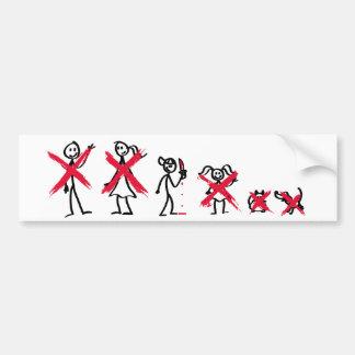Stick Family - Bad Boy Bumper Sticker