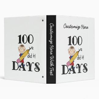 Stick Figure 100 Days 3 Ring Binder