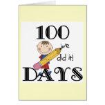Stick Figure 100 Days Greeting Card