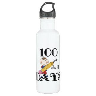 Stick Figure 100 Days Stainless Steel Water Bottle