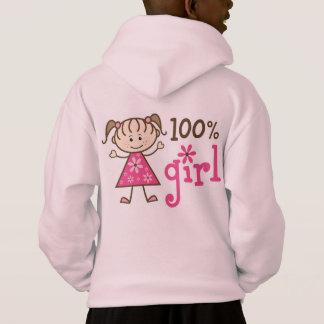 Stick Figure 100% Girl Pink Hoodie