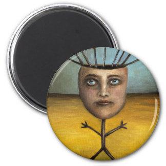 Stick Figure 1 2 Inch Round Magnet