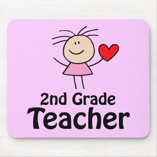 Stick Figure 2nd Grade Teacher Mousepad