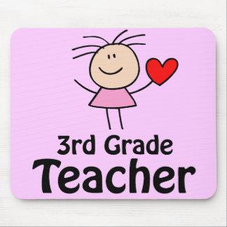 Stick Figure 3rd Grade Teacher Mousepad