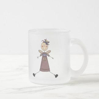 Stick Figure Angel 4 Frosted Glass Coffee Mug