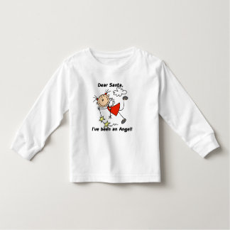 Stick Figure Angel Dear Santa Tshirts and Gifts