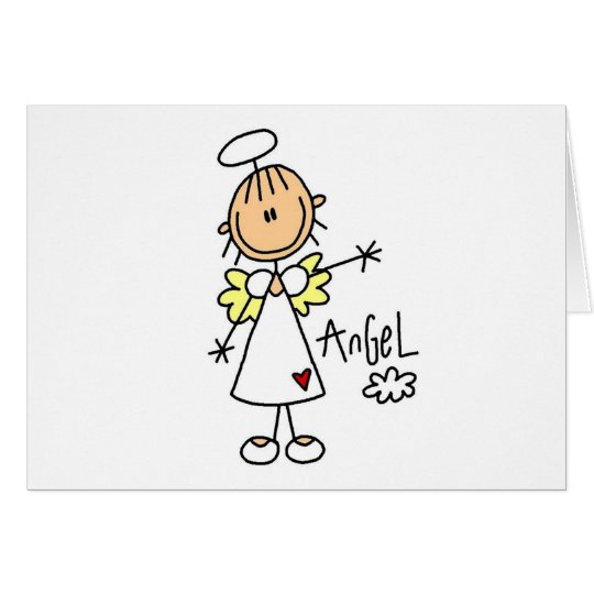 Stick Figure Angel T-shirts and Gifts Card
